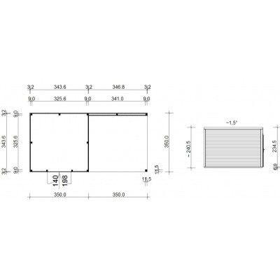 Afbeelding 18 van SmartShed Blokhut Ligne Ultra 700x350 cm