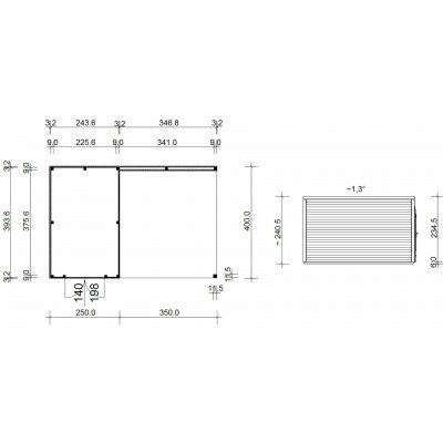 Afbeelding 18 van SmartShed Blokhut Ligne Ultra 600x400 cm