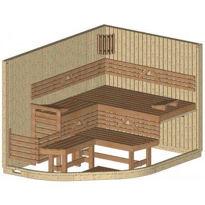 Afbeelding 21 van Azalp Sauna Runda 280x203 cm vuren
