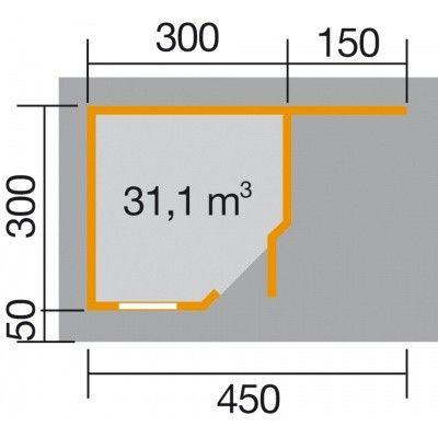 Afbeelding 2 van Weka Designhuis 213 A Gr.2, 456x298 cm antraciet