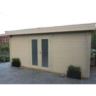 Bild 85 von Azalp Blockhaus Ingmar 596x596 cm, 45 mm