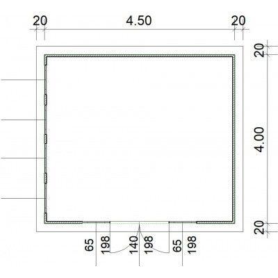 Afbeelding 2 van SmartShed Blokhut Zenon 450x400 cm, 30 mm