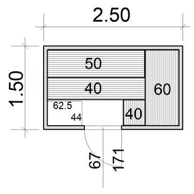 Afbeelding 2 van Azalp Massieve sauna Eva 250x150 cm, 45 mm