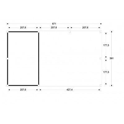 Bild 5 von WoodAcademy Earl Nero Überdachung 680x400 cm