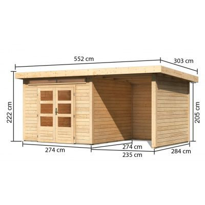 Afbeelding 3 van Woodfeeling Kandern 6 met veranda 240 cm (82998)