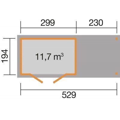 Bild 2 von Weka Gartenhaus 321B Gr. 4 Anbau 230cm