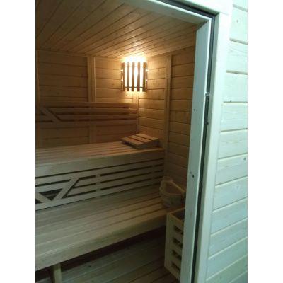 Afbeelding 28 van Azalp Massieve sauna Genio 166x166 cm, 45 mm