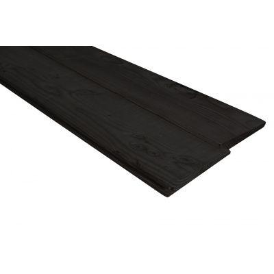 Afbeelding 4 van WoodAcademy Achterwand Vuren 400 cm Zwart (133563)*