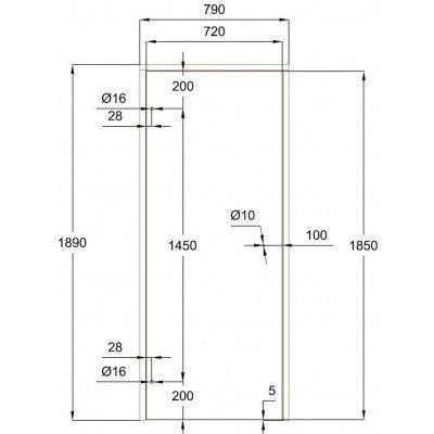 Afbeelding 7 van Ilogreen Saunadeur Trend (Elzen) 189x79 cm, groenglas