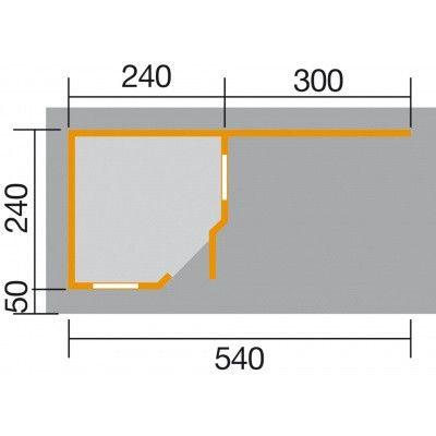 Afbeelding 2 van Weka Designhuis 213B Gr.1, 541x238 cm antraciet