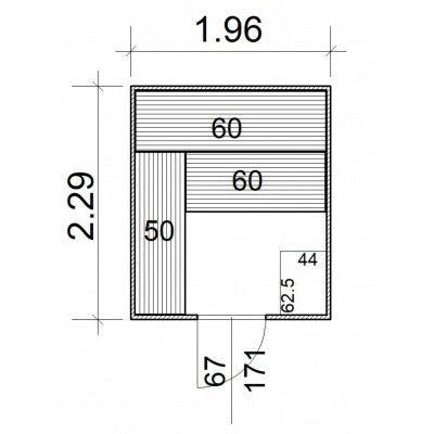 Afbeelding 5 van Azalp Massieve sauna Rio Standaard 196x229 cm, 39 mm