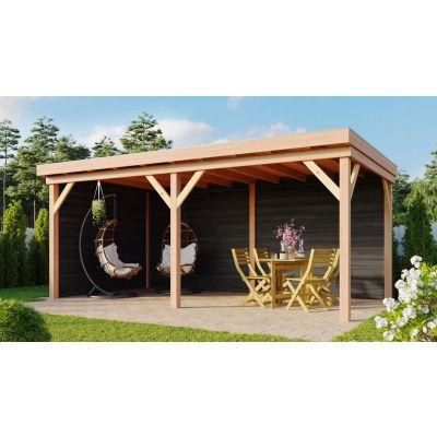 Hauptbild von WoodAcademy Earl Nero Überdachung 680x400 cm