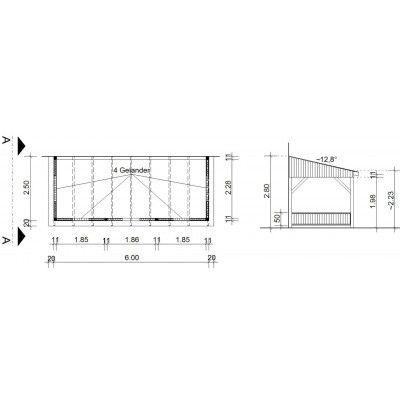 Bild 34 von Azalp Terrassenüberdachung Holz 600x250 cm
