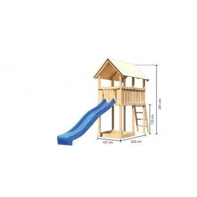 Afbeelding 2 van Akubi Speeltoren Danny met glijbaan (89353)