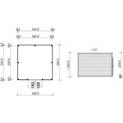 Bild 14 von SmartShed Gartenhaus Ligne 350x350 cm
