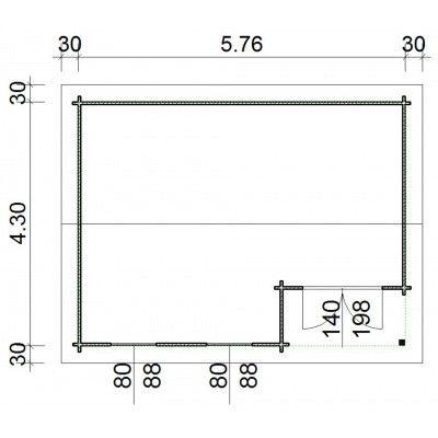 Afbeelding 66 van Azalp Blokhut Kinross 596x450 cm, 45 mm