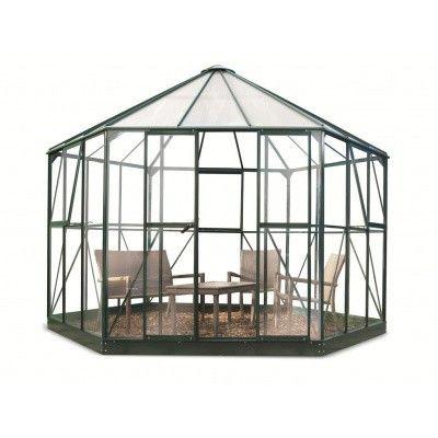 Hoofdafbeelding van Royal Well Prieel Atrium 90 groen gecoat veiligheidsglas 3mm