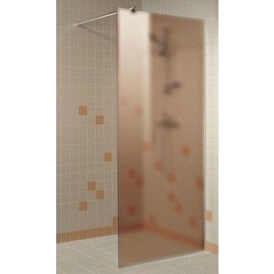 Hoofdafbeelding van Hot Orange Douchewand 90x200 cm, mat brons 8 mm