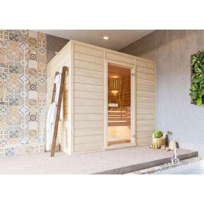 Hoofdafbeelding van Azalp Massieve sauna Eva 240x230 cm, 45 mm