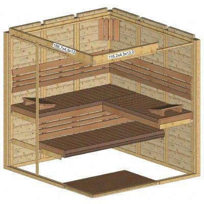 Afbeelding 34 van Azalp Sauna Luja 190x200 cm, 45 mm