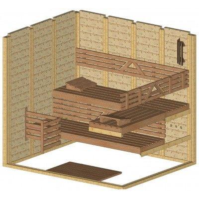 Afbeelding 44 van Azalp Massieve sauna Genio 220x180 cm, 45 mm
