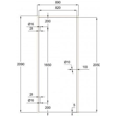 Afbeelding 8 van Ilogreen Saunadeur Trend (Elzen) 209x89 cm, groenglas