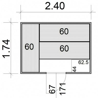 Afbeelding 5 van Azalp Massieve sauna Rio Standaard 240x174 cm, 39 mm