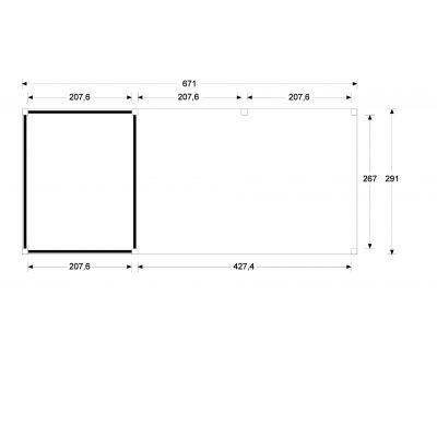 Bild 5 von WoodAcademy Bristol Nero Gartenhaus 680x300 cm