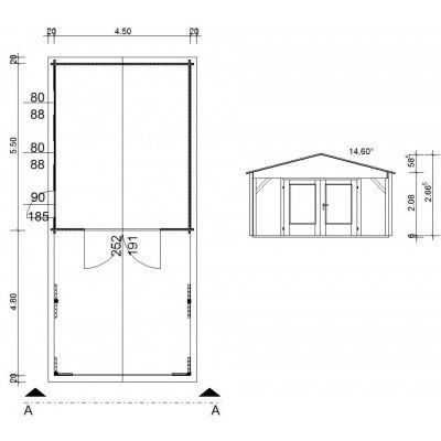 Afbeelding 10 van Azalp Garage Jeffrey 470x570 cm, 95 mm