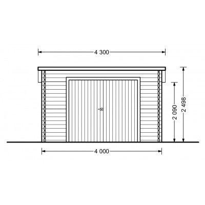 Bild 2 von Graed Modern Garage 400x600 cm, 44 mm