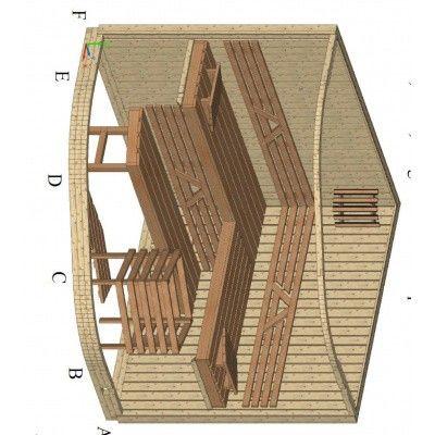 Bild 13 von Azalp Sauna Runda 220x203 cm, Erle