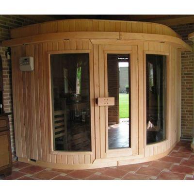 Bild 3 von Azalp Sauna Runda 220x203 cm, Espenholz