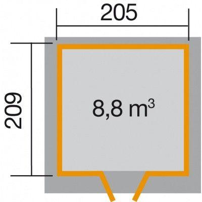 Bild 2 von Weka Gartenhaus 227 Gr. 1 Grau