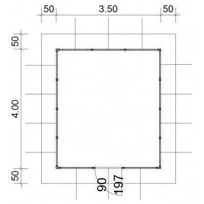 Afbeelding 4 van SmartShed Blokhut Amando 350x400 cm, 45 mm