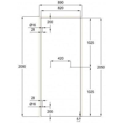 Afbeelding 10 van Ilogreen Saunadeur Classic (Elzen) 89x209 cm, helderglas