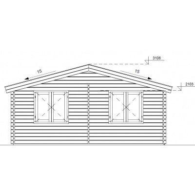 Bild 8 von Graed Double Garage + Carport 950x595 cm, 44 mm