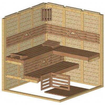 Afbeelding 44 van Azalp Massieve sauna Genio 190x190 cm, 45 mm