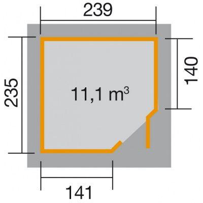 Bild 2 von Weka Gartenhaus 229 Gr. 2 Grau