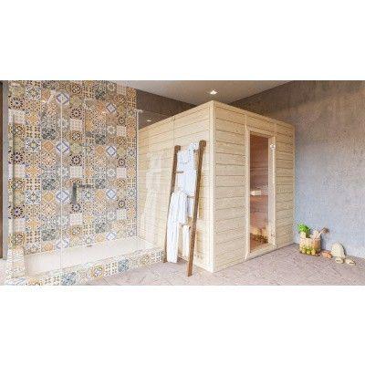 Afbeelding 4 van Azalp Massieve sauna Eva 190x190 cm, 45 mm