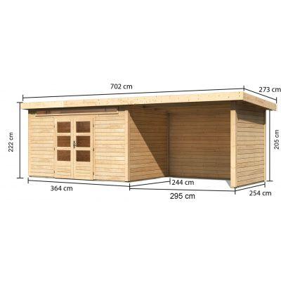 Afbeelding 3 van Woodfeeling Kandern 7 met veranda 300 cm (83004)