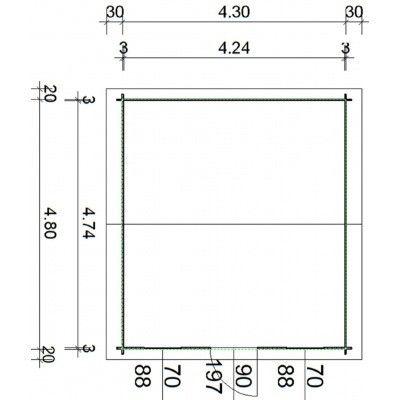 Bild 24 von Azalp Blockhaus Mona 450x500 cm, 30 mm