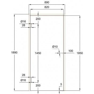 Afbeelding 7 van Ilogreen Saunadeur Trend (Vuren) 189x89 cm, groenglas