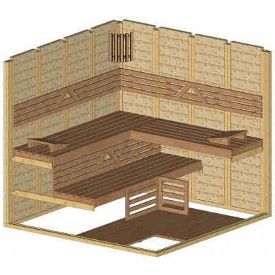 Afbeelding 44 van Azalp Massieve sauna Genio 220x220 cm, 45 mm