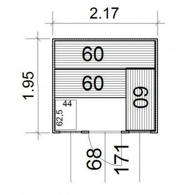 Afbeelding 3 van Azalp Massieve sauna Rio Optic 217x195 cm, 39 mm