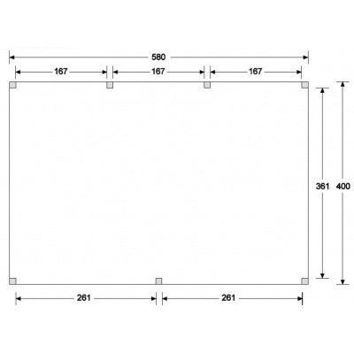 Afbeelding 4 van WoodAcademy Graniet excellent Nero blokhut 580x400 cm