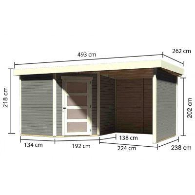 Afbeelding 3 van Woodfeeling Schwandorf 5 Terragrijs met veranda (77749)