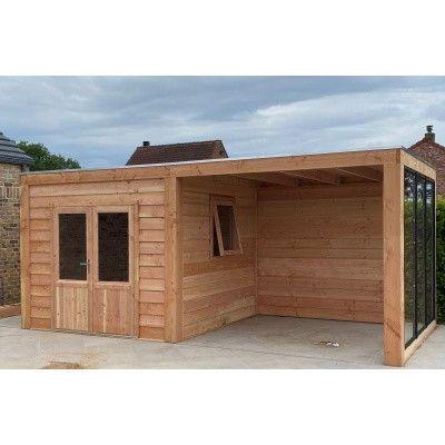 Afbeelding 4 van WoodAcademy Sapphire excellent Douglas blokhut 580x400 cm