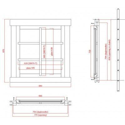 Afbeelding 2 van Solid Extra raam 71x66 cm*