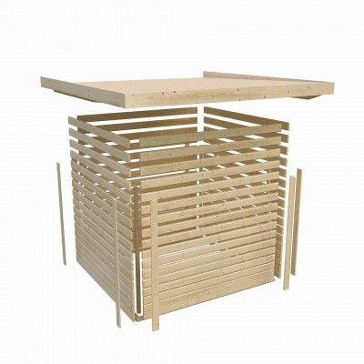 Afbeelding 4 van Woodfeeling Namen 3 met veranda 240 cm Terragrijs