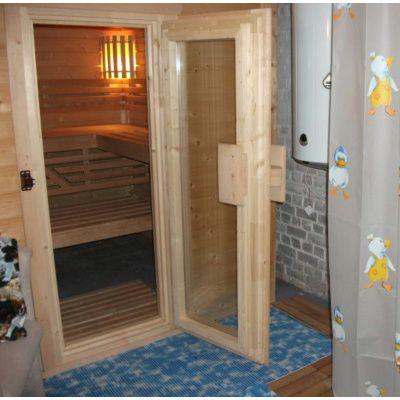 Afbeelding 23 van Azalp Massieve sauna Genio 166x166 cm, 45 mm